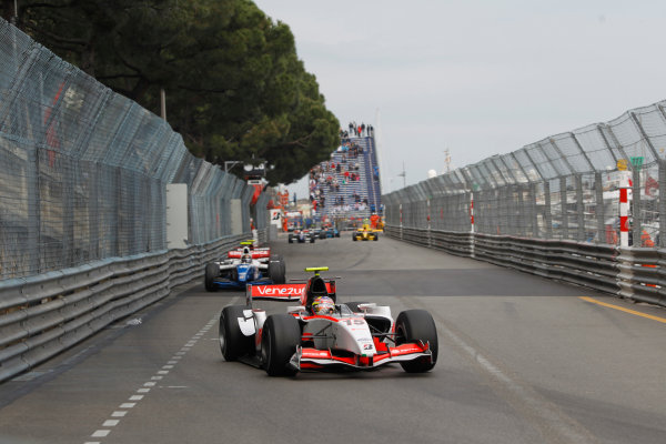 Monte Carlo, Monaco. 15th May 2010. Saturday Race.Pastor Maldonado (VEN, Rapax). Action. Photo: Andrew Ferraro/GP2 Media Service.Ref: _Q0C7488 jpg