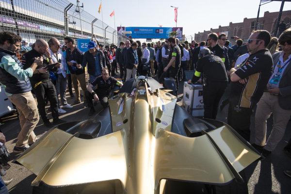 The car of Jean-Eric Vergne (FRA), DS TECHEETAH, DS E-Tense FE19, on the grid