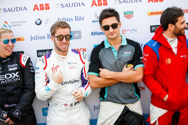 Pippa Mann (GBR), GEOX Dragon, Sam Bird (GBR), Envision Virgin Racing, Mitch Evans (NZL), Panasonic Jaguar Racing and Jérôme d'Ambrosio (BEL), Mahindra Racing