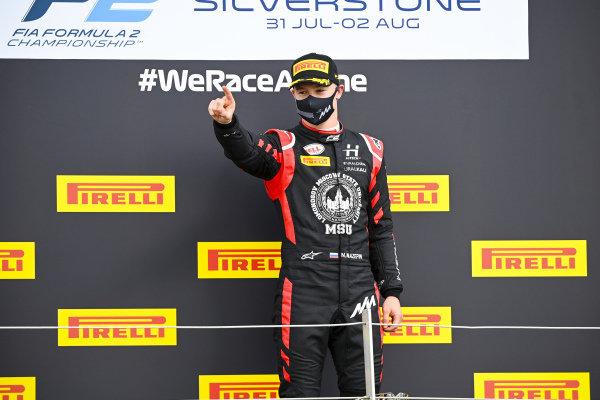 Nikita Mazepin (RUS, HITECH GRAND PRIX), 1st position, on the podium