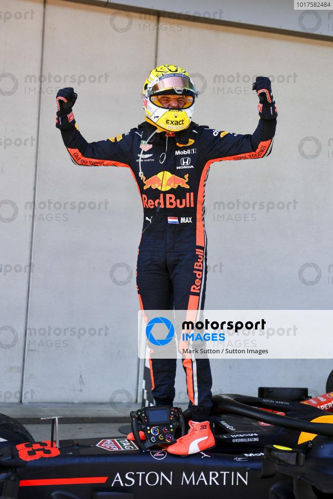 Max Verstappen, Red Bull Racing celebrates in Parc Ferme
