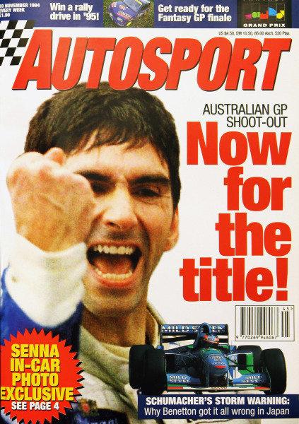 Cover of Autosport magazine, 10th November 1994