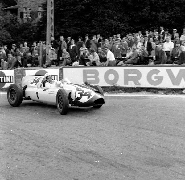 1960 Belgian Grand Prix.Spa-Francorchamps, Belgium.17-19 June 1960.Olivier Gendebien (Cooper T51 Climax) 3rd position.Ref-6652.World Copyright - LAT Photographic