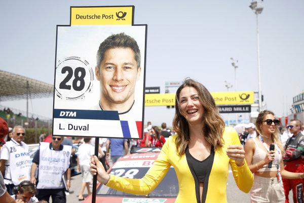 Grid girl of Loic Duval, Audi Sport Team Phoenix.