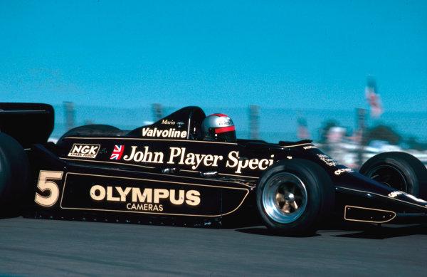 1978 Spanish Grand Prix.Jarama, Madrid, Spain.2-4 June 1978.Mario Andretti (Lotus 79 Ford) 1st position. Ref-78 ESP 01.World Copyright - LAT Photographic