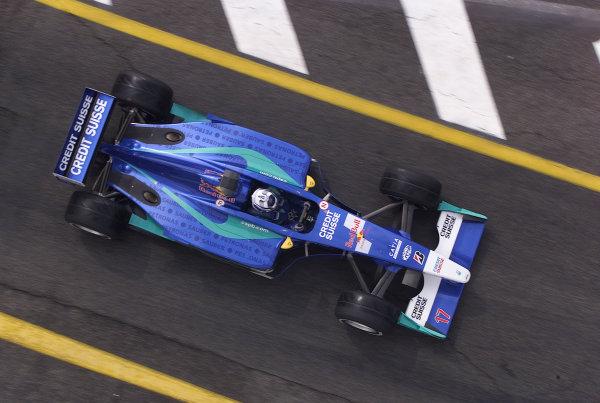 2001 San Marino Grand Prix. Imola, Italy.  13-15 April 2001. Kimi Raikkonen (Sauber C20 Petronas). World Copyrigh - Steve Etherington/LAT Photographic ref: 17.5 mb digital image.