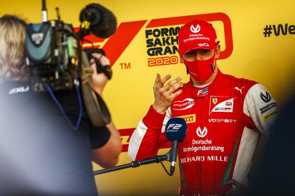 Mick Schumacher (DEU, PREMA RACING) talks to the press after winning the championship