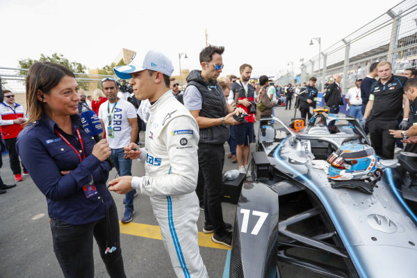 Nyck De Vries (NLD), Mercedes Benz EQ, EQ Silver Arrow 01, talks to the press