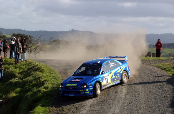 2002 World Rally Championship.Propecia Rally of New Zealand, Auckland, October 3rd-6th.Petter Solberg during shakedownPhoto: Ralph Hardwick/LAT