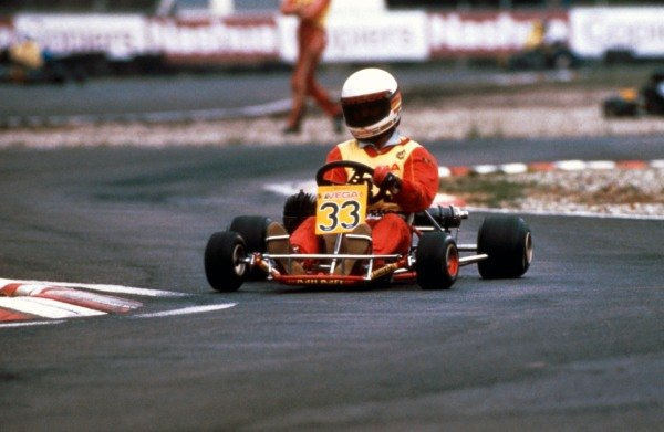 A young Michael Schumacher (GER) karting circa 1984.