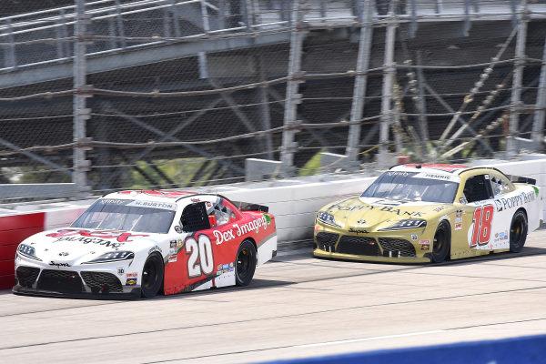 #20: Harrison Burton, Joe Gibbs Racing, Toyota Supra DEX Imaging, #18: Daniel Hemric, Joe Gibbs Racing, Toyota Supra Poppy Bank