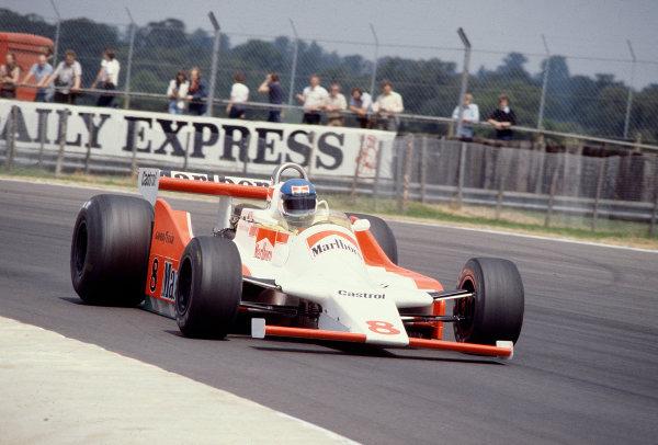 1979 British Grand Prix.Silverstone, England.12-14 July 1979.Patrick Tambay (McLaren M28 Ford) 7th position.Ref-79 GB 22.World Copyright - LAT Photographic
