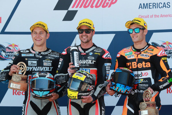 Marcel Schrotter, Intact GP, Thomas Luthi, Intact GP, Jorge Navarro, Speed Up Racing