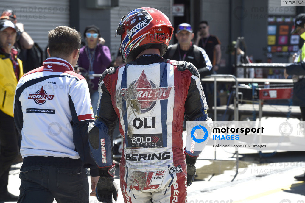 Sam Lowes, Gresini Racing, after crash