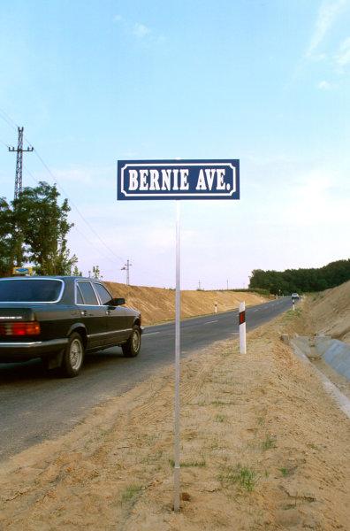"Hungaroring, Hungary.8-10 August 1997.""Bernie Avenue"" a new road near to the Hungaroring.Ref-97 HUN 35.World  Copyright - LAT Photographic"