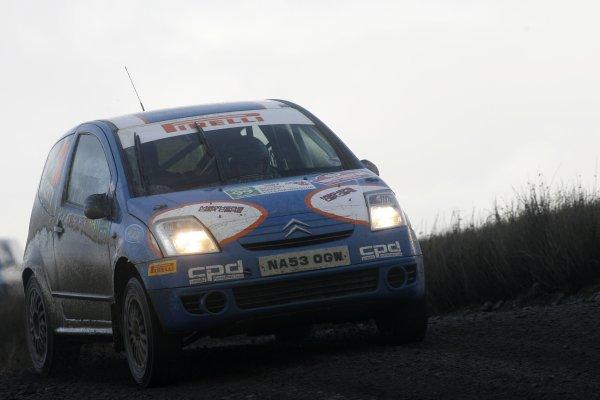 2007 British Rally ChampionshipWales Rally GB, 30thNovember  - 2nd December 2007,Martin Laverty/Citroen C2World Copyright: Ebrey/LAT Photographic
