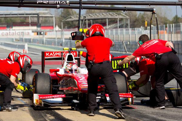 Circuit de Barcelona Catalunya, Barcelona, Spain. Wednesday 15 March 2017. Antonio Fuoco (ITA, PREMA Racing). Action.  Photo: Alastair Staley/FIA Formula 2 ref: Digital Image 585A0123