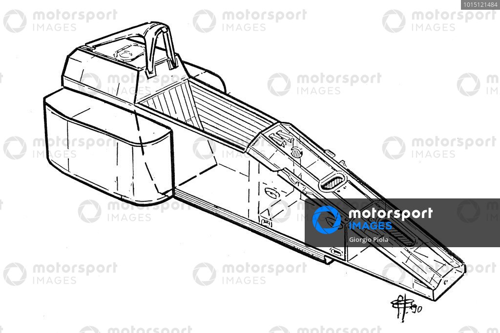 Ferrari F1-90 (641) 1990 chassis detail