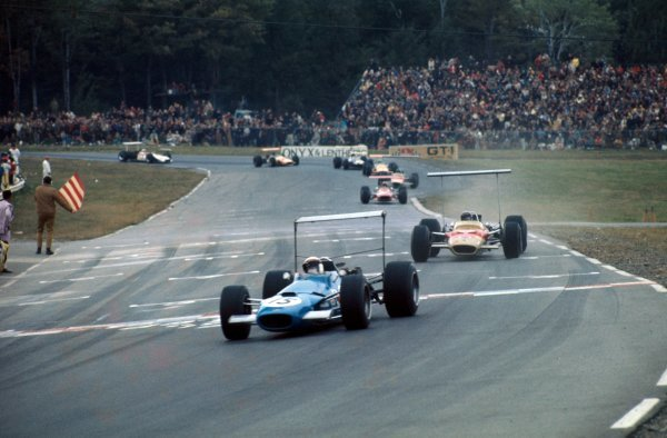 Jackie Stewart (GBR), Matra MS10, took victory and moved to within three points of championship leader Graham Hill (GBR), Lotus Cosworth 49B, who finished the race in second place.United States Grand Prix, Rd11, Watkins Glen, USA. 6 October 1968.BEST IMAGE