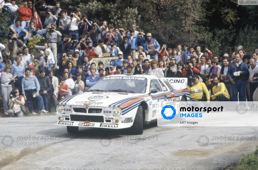 1984 World Rally Championship.Tour de Corse, Corsica, France. 3-5 May 1984.Markku Alen/Ilkka Kivimaki (Lancia Rally 037), 1st position.World Copyright: LAT PhotographicRef: 35mm transparency 84RALLY10