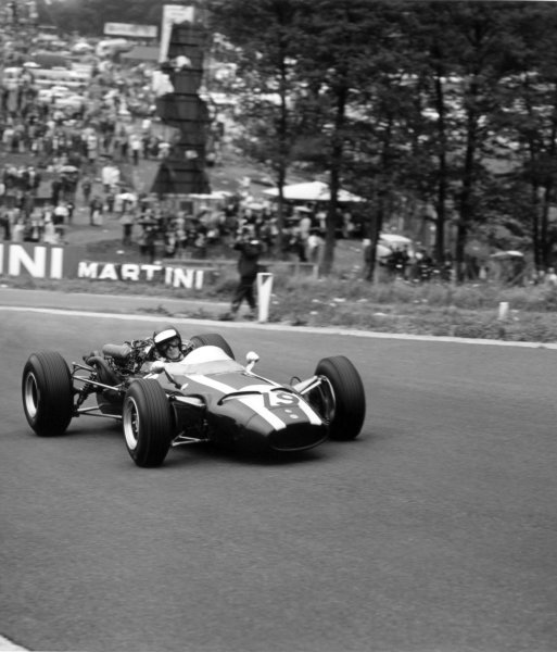 1966 Belgian Grand Prix.Spa-Francorchamps, Belgium. 12 June 1966.Jochen Rindt, Cooper T81-Maserati, 2nd position, action.World Copyright: LAT PhotographicRef: 34817
