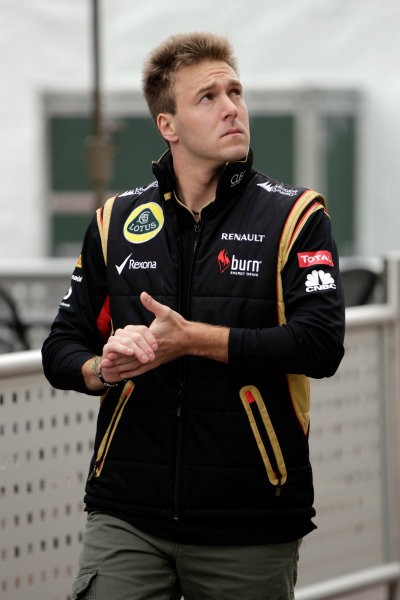 Circuit of the Americas, Austin, Texas, United States of America. Thursday 14th November 2013. Davide Valsecchi, Third Driver, Lotus F1. World Copyright: Andy Hone/LAT Photographic. ref: Digital Image _ONY2881
