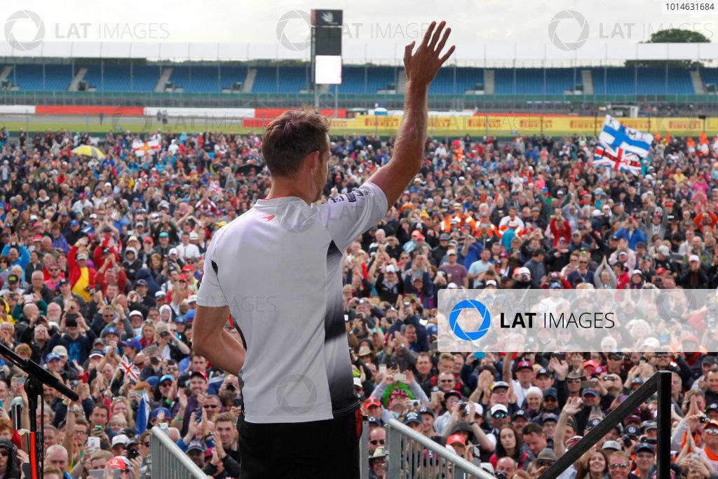 Round 10 - British Grand Prix, Silverstone, Northamptonshire, UK Sunday 10 July 2016. Jenson Button (GBR) McLaren Honda World Copyright: Jakob Ebrey/LAT Photographic