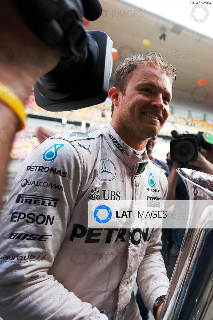 Shanghai International Circuit, Shanghai, China. Sunday 17 April 2016. Nico Rosberg, Mercedes AMG, 1st Position. World Copyright: Sam Bloxham/LAT Photographic ref: Digital Image _R6T1964