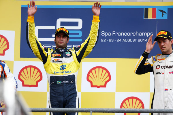 2014 GP2 Series Round 8. Spa-Francorchamps, Spa, Belgium. Sunday 24 August 2014. Felipe Nasr (BRA, Carlin)  Photo: Sam Bloxham/GP2 Series Media Service. ref: Digital Image _SBL7659