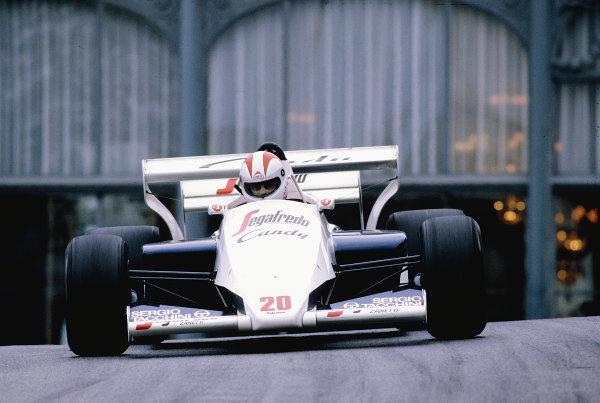 1984 Monaco Grand Prix.Monte Carlo, Monaco.31/5-3/6 1984.Johnny Cecotto (Toleman TG184 Hart).Ref-84 MON 58.World Copyright - LAT Photographic