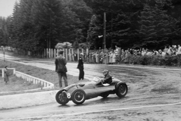 1952 Belgian Grand Prix. Spa-Francorchamps, Belgium. 22 June 1952. Mike Hawthorn (Cooper T20-Bristol), 4th position. World Copyright - LAT Photographic