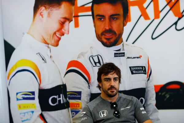 Baku City Circuit, Baku, Azerbaijan. Thursday 22 June 2017. Fernando Alonso, McLaren.  World Copyright: Steven Tee/LAT Images ref: Digital Image _R3I1246