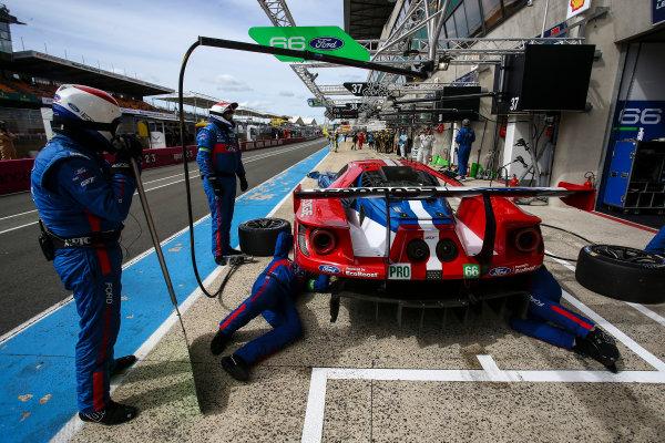 2017 Le Mans 24 Hours Test day, Le Mans, France. 4th June 2017. #66 Ford Chip Ganassi Team UK  Ford GT: Stefan Mucke, Olivier Pla, Billy Johnson. World Copyright: JEP/LAT Images.