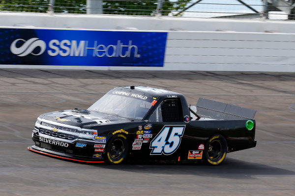 NASCAR Camping World Truck Series Drivin? For Linemen 200 Gateway Motorsports Park, Madison, IL USA Saturday 17 June 2017 T J Bell, Black Riffle Coffee Co Chevrolet Silverado World Copyright: Russell LaBounty LAT Images