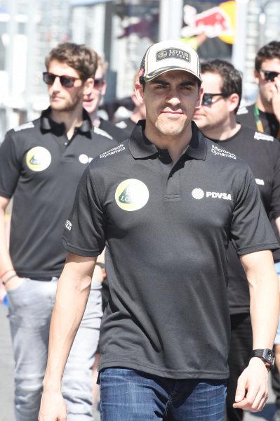 Pastor Maldonado (VEN) Lotus at Formula One World Championship, Rd1, Australian Grand Prix, Preparations, Albert Park, Melbourne, Australia, Wednesday 11  March 2015.