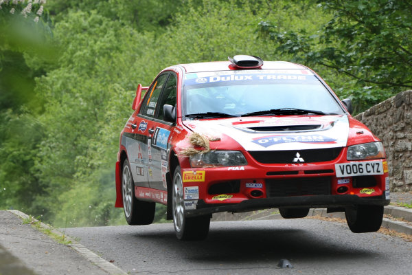 Jim Clark Rally, Duns, Borders. 28th-29th May 2010Owen Murphy/James O'Brien - Mitsubishi Lancer Evo 9World copyright: Ebrey/LAT Photographic