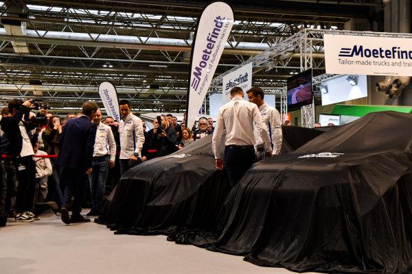 Autosport International Exhibition. National Exhibition Centre, Birmingham, UK. Thursday 11th January 2017. Malcolm Wilson, Sebastien Ogier and Elfyn Evans from M-Sport Ford gather at the WRC season launch.World Copyright: Mark Sutton/Sutton Images/LAT Images Ref: DSC_7201