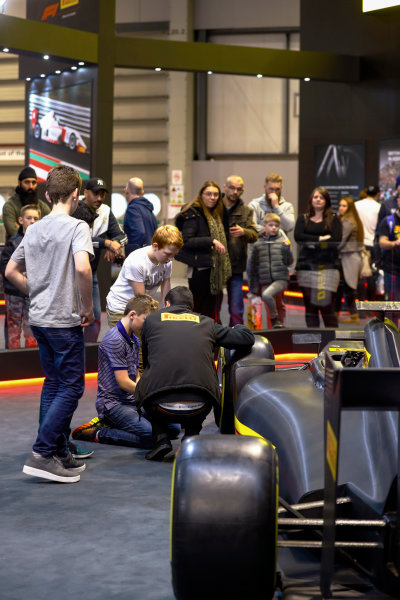 Autosport International Exhibition. National Exhibition Centre, Birmingham, UK. Sunday 14th January 2018. The Pirelli stand.World Copyright: Ashleigh Hartwell/LAT Images Ref: _R3I9673