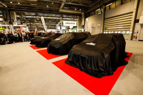 Autosport International Exhibition. National Exhibition Centre, Birmingham, UK. Thursday 11th January 2017. WRC cars under covers.World Copyright: Ashleigh Hartwell/LAT Images Ref: _O3I7641