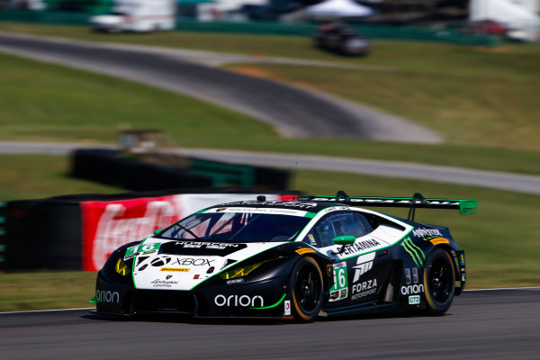 IMSA WeatherTech SportsCar Championship Michelin GT Challenge at VIR Virginia International Raceway, Alton, VA USA Friday 25 August 2017 16, Lamborghini, Lamborghini Huracan GT3, GTD, Corey Lewis, Geert Jeroen Mul World Copyright: Jake Galstad LAT Images