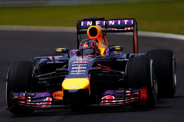 Interlagos, Sao Paulo, Brazil. Friday 7 November 2014. Sebastian Vettel, Red Bull Racing RB10 Renault. World Copyright: Andrew Hone/LAT Photographic. ref: Digital Image _ONY7819