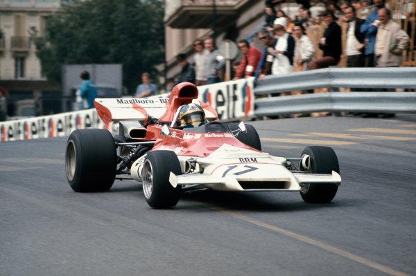 1972 Monaco Grand Prix.  Monte Carlo, Monaco. 11-14th May 1972.  Jean-Pierre Beltoise, BRM P160B, 1st position, action. Ref: 72MON18. World Copyright: LAT Photographic