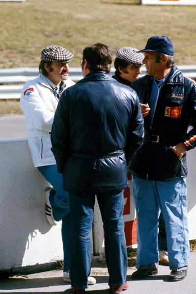 Mosport Park, Ontario, Canada.  21-23 September 1973. Clay Regazzoni talks to Ferrari  as he is replaced at BRM by Peter Gethin, portrait. World Copyright: LAT Photographic.Ref:  73CAN