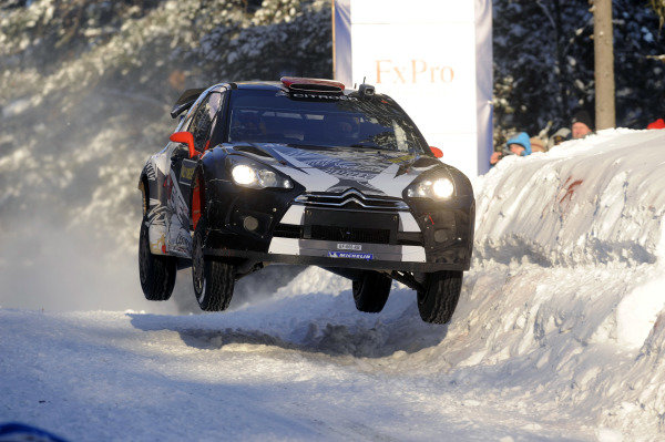 Kimi Raikkonen (FIN) Citroen DS3 WRC on stage 5. World Rally Championship, Rd1, Rally Sweden, Day One, Karlstad, Sweden. 11 February 2011.