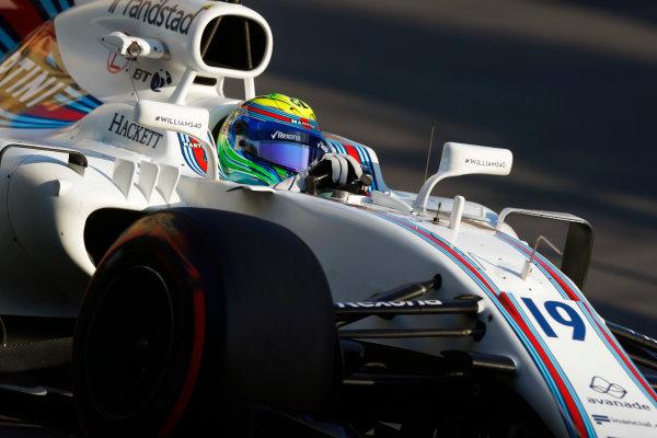 Baku City Circuit, Baku, Azerbaijan. Friday 23 June 2017. Felipe Massa, Williams FW40 Mercedes.  World Copyright: Steven Tee/LAT Images ref: Digital Image _O3I1521