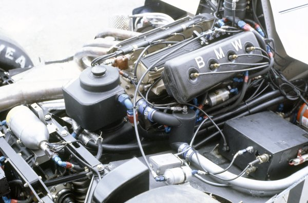 1982 South African Grand Prix.Kyalami, South Africa. 21-23 January 1982.The turbocharged engine in the Brabham BT50-BMW.World Copyright: LAT PhotographicRef: 35mm transparency 82SA31
