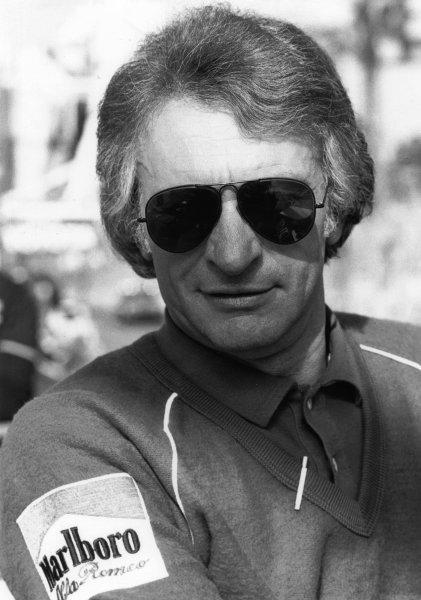 1982 Formula 1 World Championship. Gerard Ducarouge, Marlboro Team Alfa Romeo, Chief Designer, portrait.  World Copyright: LAT Photographic.  Ref:  B/W Print.