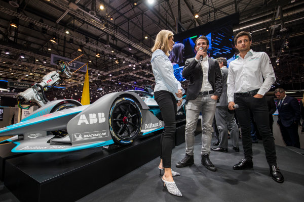 2017/2018 FIA Formula E Championship. Geneva Motor Show Tuesday 6 March 2018. The FIA Formula-E Gen2 car is unveiled. Photo: Sam Bloxham/LAT/Formula E ref: Digital Image _W6I3852