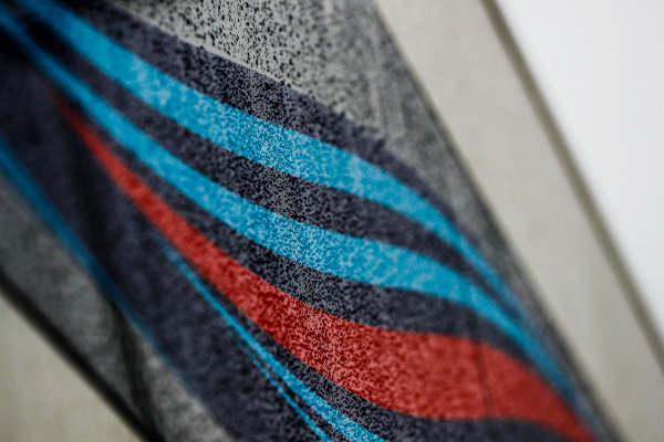 Circuit de Catalunya, Barcelona, Spain. Wednesday 28 February 2018. A Martini stripe on the Williams motorhome. World Copyright: Glenn Dunbar/LAT Images ref: Digital Image _X4I6504