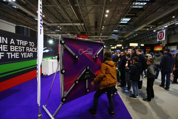 Autosport International Exhibition. National Exhibition Centre, Birmingham, UK. Sunday 14th January 2018. The Baku, Azerbaijan Grand Prix, stand.World Copyright: Mike Hoyer/JEP/LAT Images Ref: AQ2Y0092